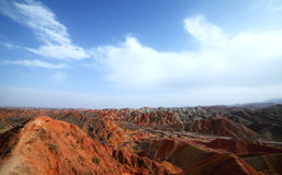 Zhangye Danxia landform Royalty Free Stock Images