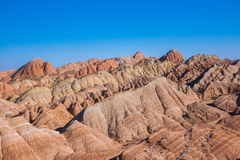 Zhangye Danxia landform wonders National Geopark Stock Photo