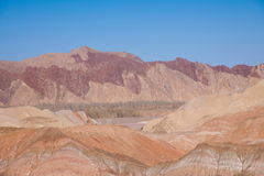 Zhangye Danxia landform wonders National Geopark Royalty Free Stock Images