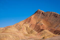 Zhangye Danxia landform wonders National Geopark Royalty Free Stock Image