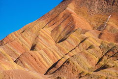 Zhangye Danxia landform wonders National Geopark Stock Image