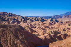 Zhangye Danxia landform wonders National Geopark Stock Photos