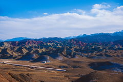 Zhangye Danxia landform wonders National Geopark Royalty Free Stock Photos