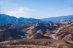 Zhangye Danxia landform zastanawia się obywatela Geopark Zdjęcie Stock