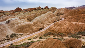 Zhangye Danxia. Is located in the middle of Hexi Corridor of Gansu Province, Zhangye City, the ancient one of theWest Zhangye four county county, take the ` Stock Images
