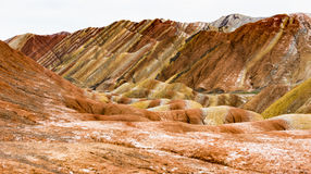 Zhangye Danxia. Is located in the middle of Hexi Corridor of Gansu Province, Zhangye City, the ancient one of theWest Zhangye four county county, take the ` Stock Image