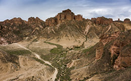 Zhangye Danxia. Is located in the middle of Hexi Corridor of Gansu Province, Zhangye City, the ancient one of theWest Zhangye four county county, take the ` Royalty Free Stock Image