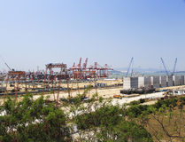 Zhangzhou port under construction Royalty Free Stock Photo