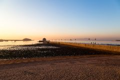 Zhanqiao pier at sunrise, Qingdao Stock Photos