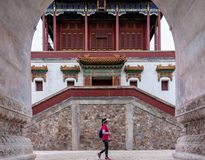Zhao Temple, parc de Xiangshan, Pékin, Chine images libres de droits