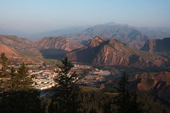 ZHAOBISHAN landscape view during dawn Stock Images