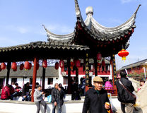 Zhaojialou ancient town pavilion Stock Image