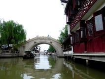 Zhaojialou ancient town's bridge Stock Photography