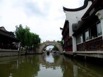Zhaojialou ancient town's bridge Royalty Free Stock Photo