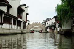 Zhaojialuo Town Shanghai China tourist boat ride Royalty Free Stock Image
