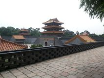 Zhaoling Mausoleum of the Qing Dynasty-wall load Stock Image