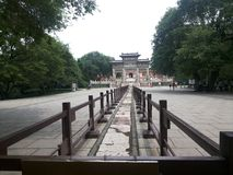 Zhaoling Mausoleum of the Qing Dynasty-Memorial arch Stock Images