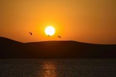 Zhaotong Dashanbao sea son sunrise. Eastphoto, tukuchina,  Zhaotong Dashanbao sea son sunrise Stock Image