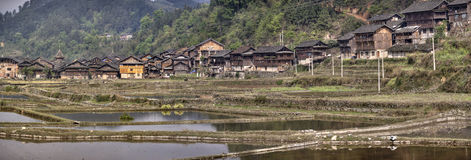 Zhaoxing Dong village of ethnic minority in southwest China. Royalty Free Stock Photos