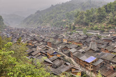 Zhaoxing Dong Village, located in Liping County, Guizhou Provinc Royalty Free Stock Image