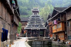 Zhaoxing - a gorgeous village in guizhou, china Stock Photo