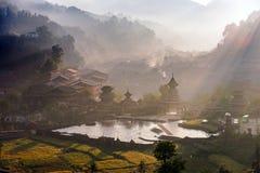 The village of the Guizhou Stock Photos