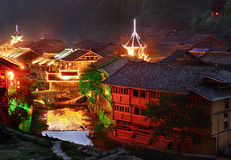 Zhaoxing Town, Liping County, Guizhou, China. Zhaoxing Dong Village is one of the largest Dong villages in Guizhou. Zhaoxing Dong Village (Zhao Xing Dong Zhai) Royalty Free Stock Photography