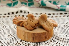 Zhavoronki, Russian rye cookies for spring equinox selebration Royalty Free Stock Photography