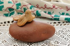 Zhavoronki, Russian rye cookies for spring equinox selebration. Horizontal royalty free stock images