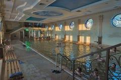 Zhayvoronok thermal pool in Berehove, Ukraine Stock Photos