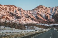 Zhdanko-Berg auf Sonnenunterganglicht Lizenzfreies Stockbild
