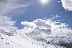 Zhe-duo snow mountain Stock Image
