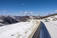 Zheduo mountain pass Royalty Free Stock Image
