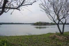 Xianshan lake scenic spot. Zhejiang huzhou changxing, xianshan lake scenic spot. Xianshan lake scenic spot is composed of xianshan and xian lake royalty free stock images