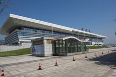 Zhejiang Huzhou Railway Station. Huzhou City is the prefecture-level provincial cities in Zhejiang Province, located in the northern part of Zhejiang Province stock photo