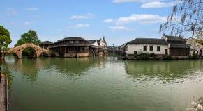Zhejiang Jiaxing Wuzhen Xigu vatten Fotografering för Bildbyråer