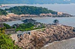 Zhejiang Zhoushan Putuo czarnego bambusa las - bogini litość szpital odmawiał iść Obraz Royalty Free