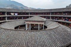 ZhenCheng Lou w HongKeng gronie, Fujian prowincja Chiny obrazy royalty free
