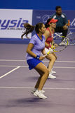 Zheng jie/mirza sania Showdown of Champions Tennis Stock Images