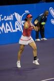 Zheng Jie am Show-down von Meister-Tennis Stockbild