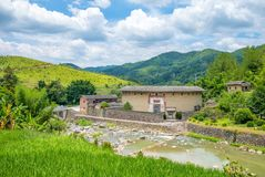 Zhengfulou, Princess of TuLou, one of the most famous tulou in fujian stock photography