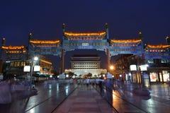 Zhengyang port på natten Royaltyfri Foto