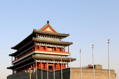 Zhengyangmen brama (Qianmen) porcelana beijing Zdjęcie Stock