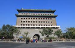 Zhengyangmen bramy architektury Pekin dziejowa porcelana Fotografia Stock