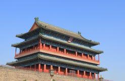 Zhengyangmen bramy architektury Pekin dziejowa porcelana Zdjęcie Royalty Free