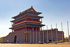 The Zhengyangmen Gatehouse. Stock Images