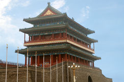 The Zhengyangmen Gatehouse commonly know as Qianmen in Dongcheng District, Beijing,  China Stock Photo