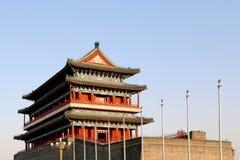 Zhengyangmen port (Qianmen) beijing porslin arkivfoto