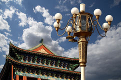 Zhengyangmen port (Qianmen) beijing porslin royaltyfri bild