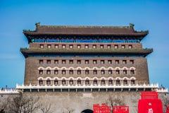 Zhengyangmen łucznictwa wierza Pekin Chiny fotografia stock